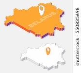 belarus flags on map element... | Shutterstock .eps vector #550835698