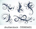 vector illustration set of... | Shutterstock .eps vector #55083601