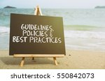 closeup chalkboard on the beach ... | Shutterstock . vector #550842073