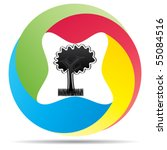 ecological tree | Shutterstock .eps vector #55084516