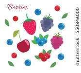 berries set. flat design.... | Shutterstock .eps vector #550846000