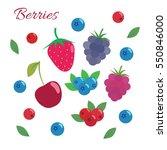 Berries Set. Flat Design....