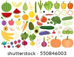 set of fresh healthy vegetables ... | Shutterstock .eps vector #550846003