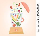 food processor  mixer  blender...   Shutterstock .eps vector #550847080