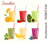 cartoon smoothies. orange ... | Shutterstock .eps vector #550847140