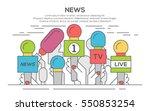 news flat banner poster. set of ... | Shutterstock .eps vector #550853254