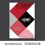 annual business report cover... | Shutterstock .eps vector #550854238