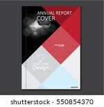 annual business report cover... | Shutterstock .eps vector #550854370