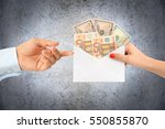 give a money envelope to a...   Shutterstock . vector #550855870