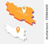 iran on map element with 3d... | Shutterstock .eps vector #550864600
