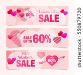 valentines day banner sale... | Shutterstock .eps vector #550879720