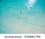 An Aerial View Of Surfers...