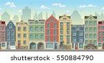 seamless cityscape background... | Shutterstock .eps vector #550884790