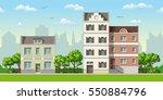 illustration of three classic... | Shutterstock .eps vector #550884796