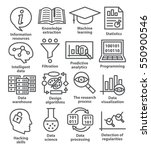 business management icons in... | Shutterstock .eps vector #550900546