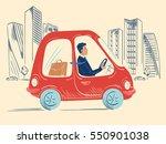happy  smiling businessman in... | Shutterstock .eps vector #550901038