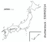 japan map country outline... | Shutterstock .eps vector #550905214