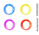 color circles set | Shutterstock .eps vector #550905850