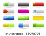 Rectangle web buttons - stock vector