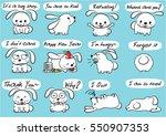 cartoon rabbit set | Shutterstock .eps vector #550907353