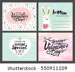 set of valentine's day greeting ... | Shutterstock .eps vector #550911109