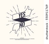 yes and no hipster linear sign... | Shutterstock .eps vector #550911769