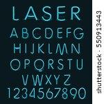 blue light glass reflect laser ... | Shutterstock . vector #550913443