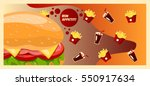 colorful banner fast food.... | Shutterstock .eps vector #550917634