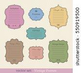 vector set of vintage frames | Shutterstock .eps vector #550919500