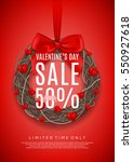 red poster for valentine's day... | Shutterstock .eps vector #550927618