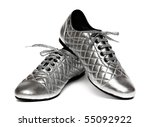 Silver Sport Shoes Isolated On...
