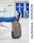 closeup of woman feet on a... | Shutterstock . vector #550929298