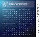 big icon set clean vector | Shutterstock .eps vector #550929418