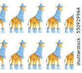 cute cartoon seamless pattern... | Shutterstock . vector #550929964