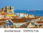 lisbon panoramic view  portugal. | Shutterstock . vector #550931716