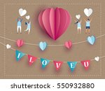 love invitation card valentine... | Shutterstock .eps vector #550932880