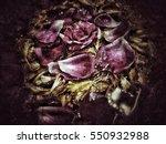 grunge flower background texture | Shutterstock . vector #550932988