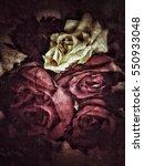 grunge flower background texture | Shutterstock . vector #550933048