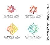 logo set logo collection crests ... | Shutterstock .eps vector #550936780