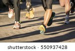 runner in a marathon competition | Shutterstock . vector #550937428