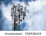 communication tower with... | Shutterstock . vector #550938424