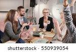 female leader reported good... | Shutterstock . vector #550939054