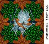 stripe petal flower. doodle... | Shutterstock .eps vector #550941223