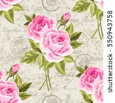 seamless floral pattern with... | Shutterstock .eps vector #550943758