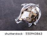 financial concept  home savings ... | Shutterstock . vector #550943863