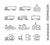 thin line logistics logo... | Shutterstock .eps vector #550946104