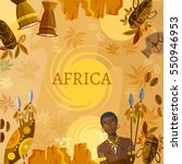 travel to africa  people  tribe.... | Shutterstock .eps vector #550946953