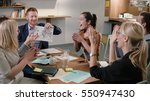male leader reported good news  ... | Shutterstock . vector #550947430