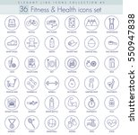 fitness and health outline... | Shutterstock . vector #550947838