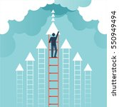 businessman climbed the ladder  ... | Shutterstock .eps vector #550949494